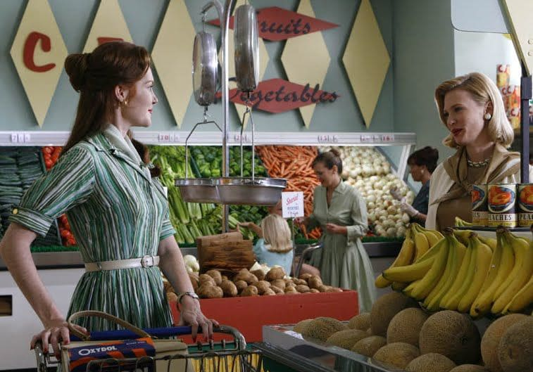 Women shopping vintage grocery store